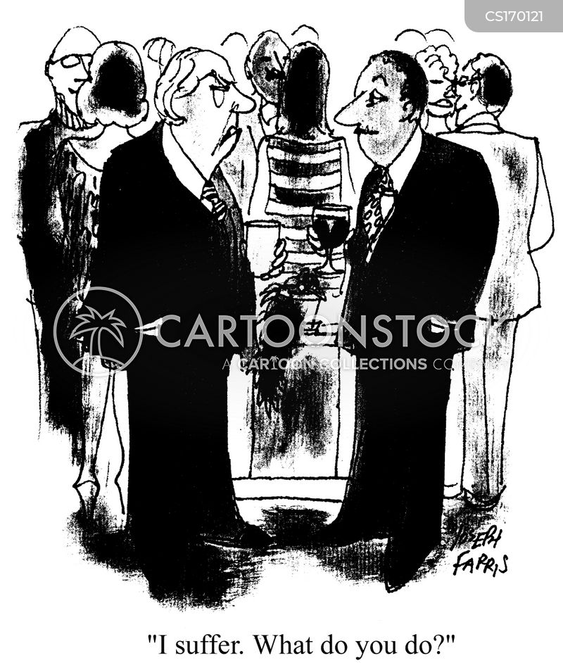 party guests cartoon