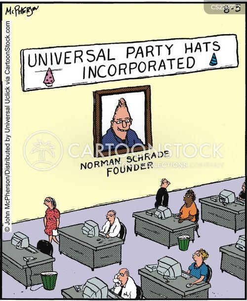 party hat cartoon