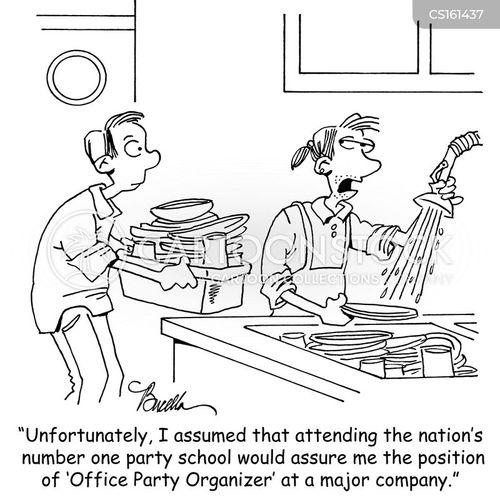 party organiser cartoon