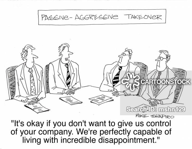 business takeover cartoon
