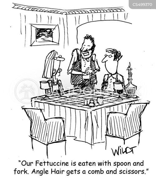 eating utensils cartoon