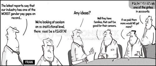 pay gaps cartoon