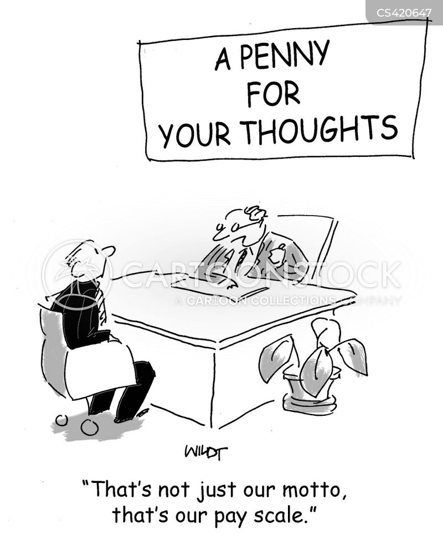 salary scales cartoon