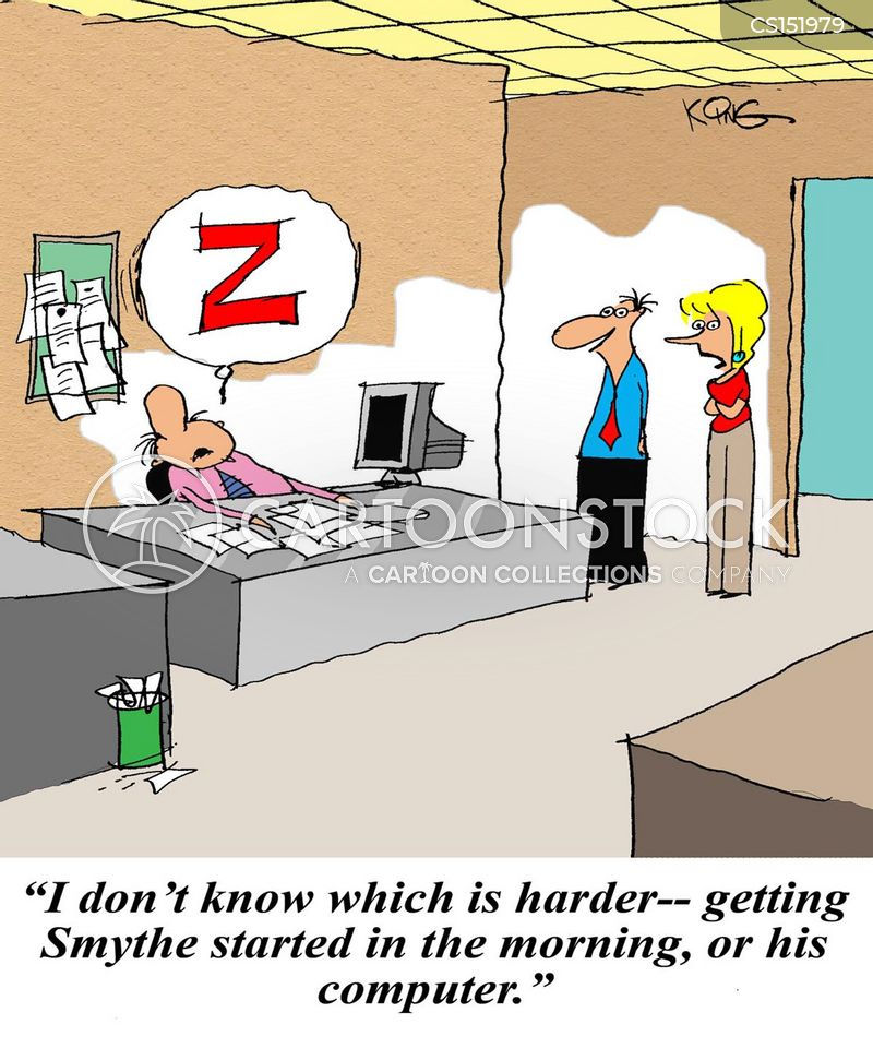 lazy workers cartoon