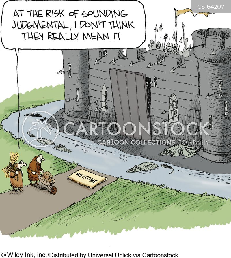 unwelcoming cartoon