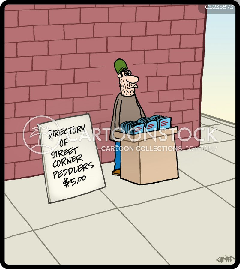 peddler cartoon
