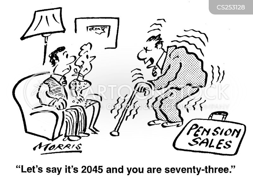pension sales cartoon