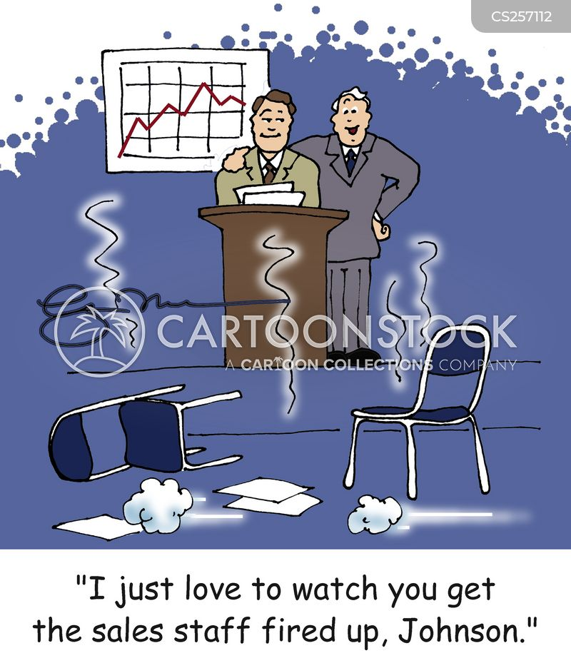 sales talk cartoon