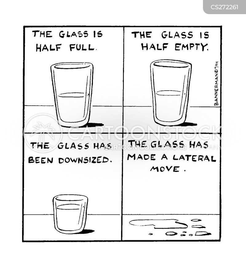 glass is half full cartoons and comics