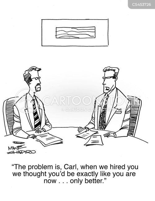 worker evaluation cartoon