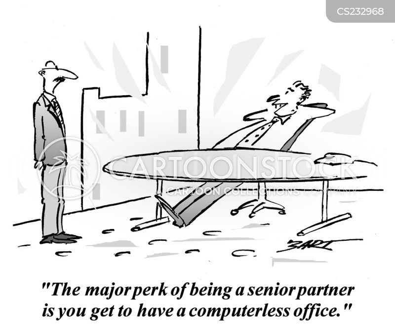 senior partners cartoon