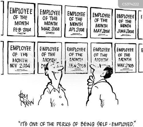 your own boss cartoon
