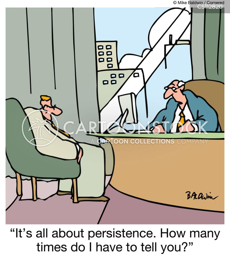 persistence cartoon