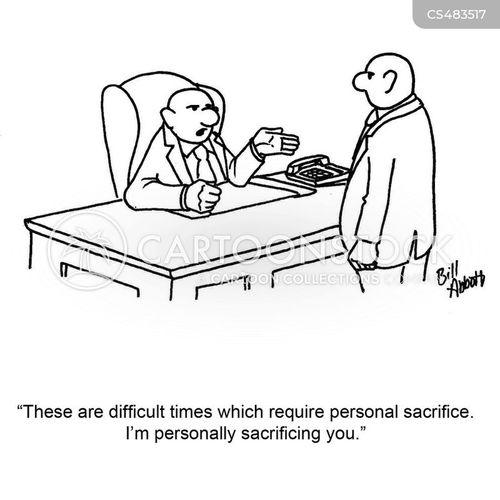 personal sacrifice cartoon