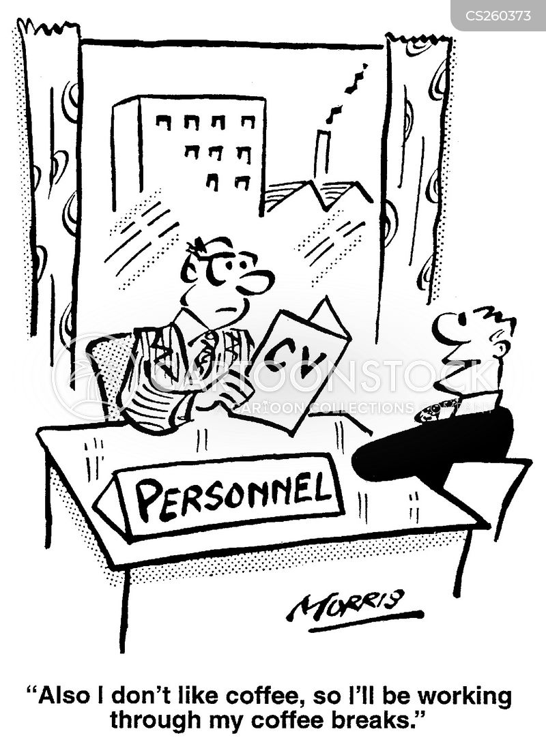 enthusiasm for work cartoon