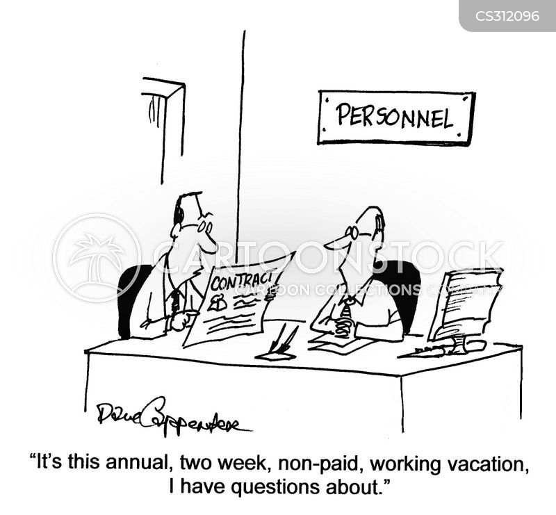 Working Vacations Cartoons Cartoon Funny Picture