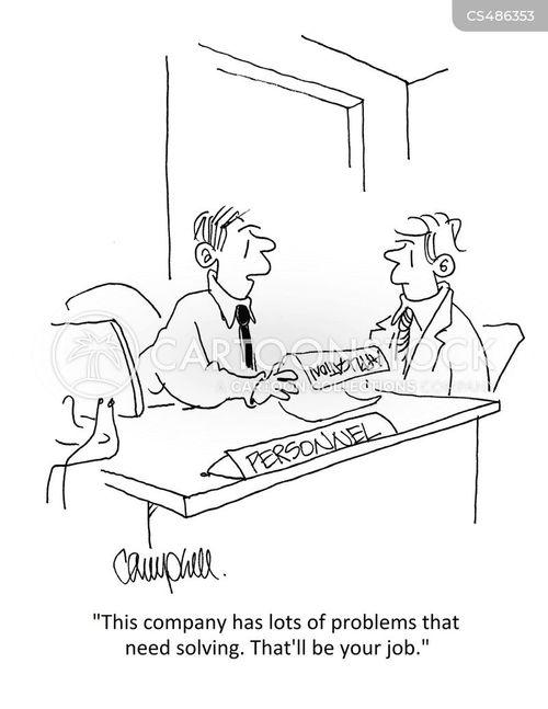 problem solves cartoon