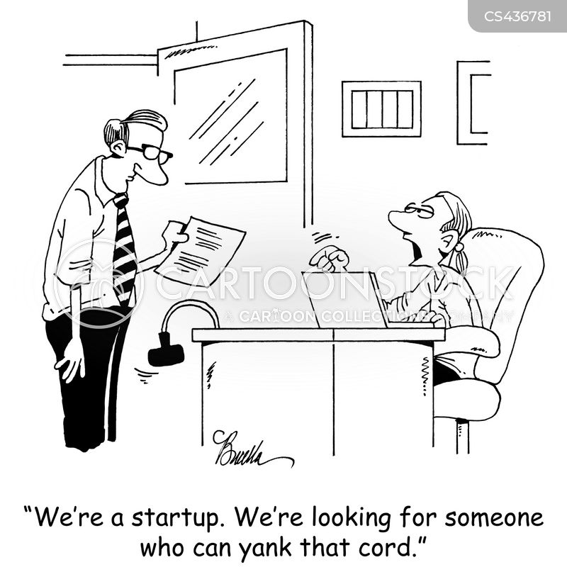 startup business cartoon