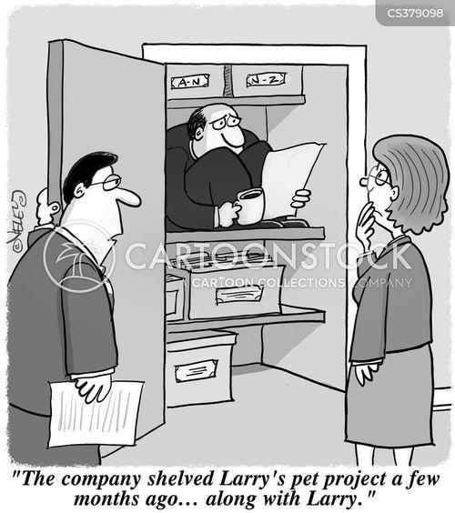 shelved cartoon