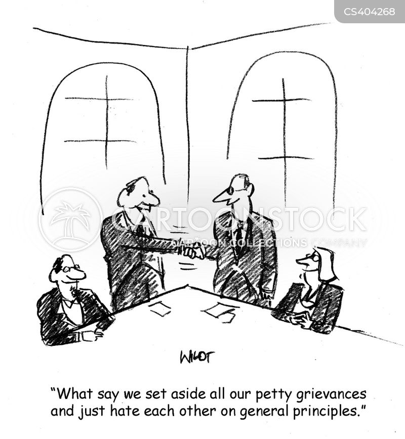 corporate negotiation cartoon