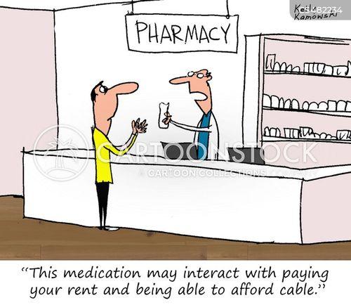 drug interaction cartoon
