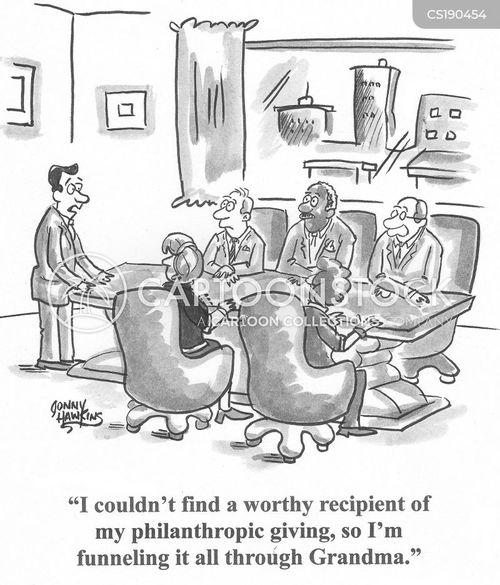 charitable giving cartoon