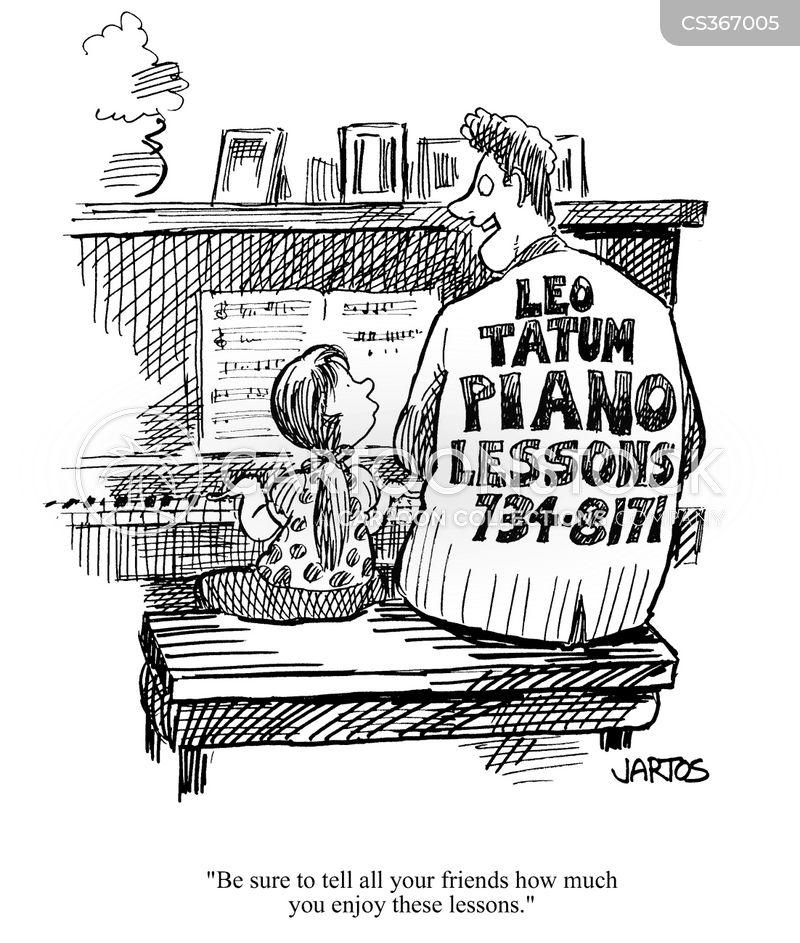 Piano Lessons Cartoons and Comics - funny pictures from CartoonStock