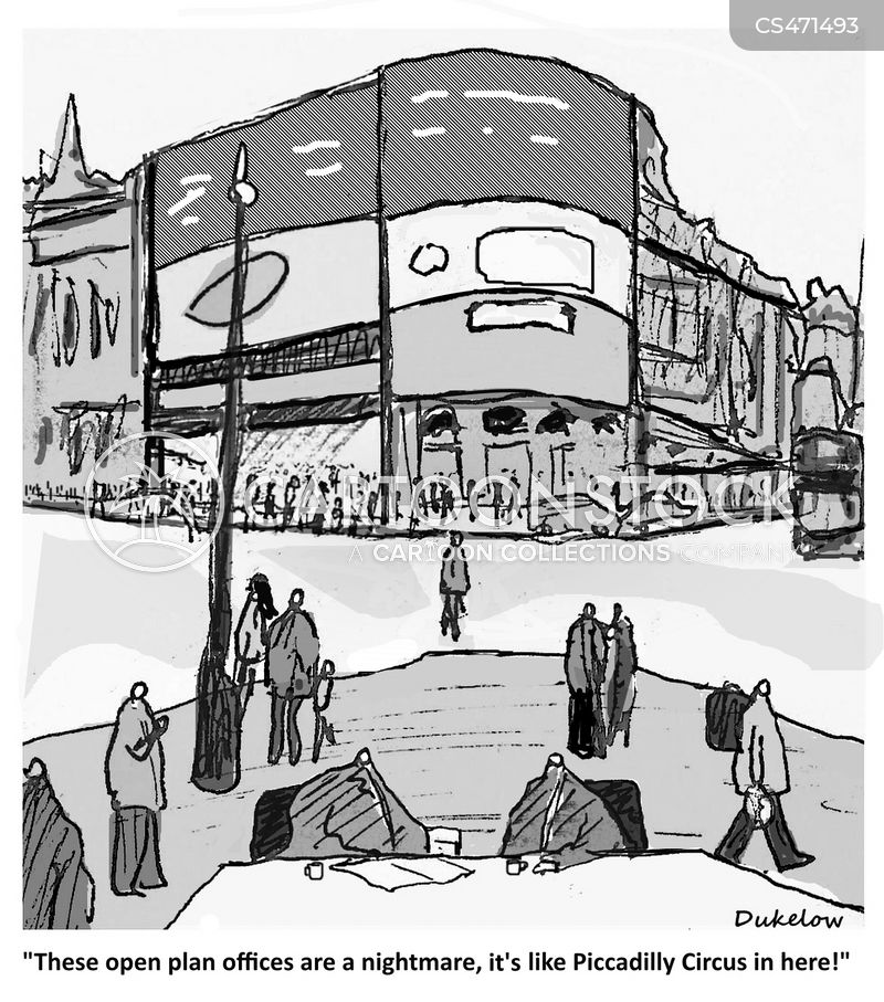 piccadilly circus cartoon