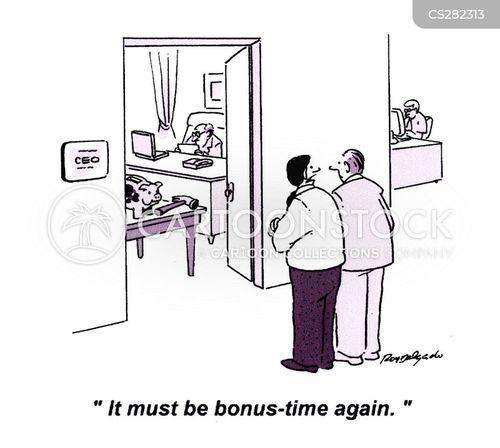 christmas bonuses cartoon