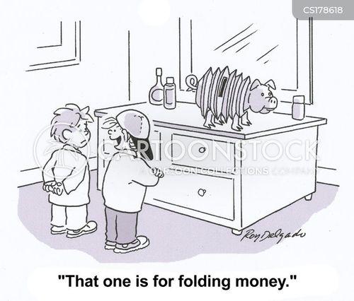 savings accounts cartoon