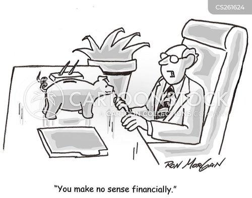 financial plan cartoon