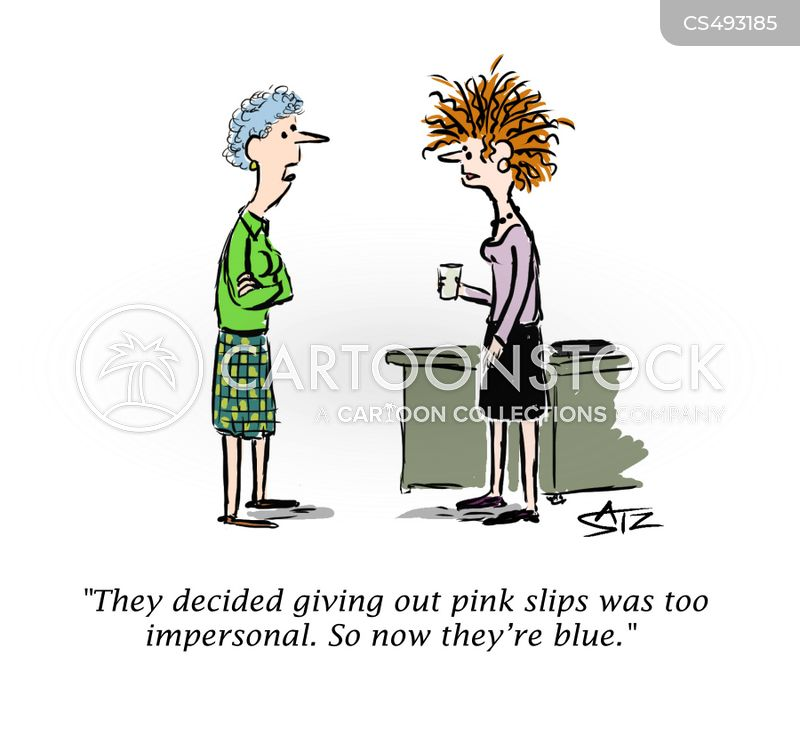 pink-slip cartoon