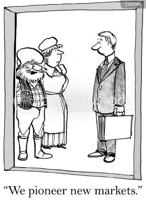 new markets cartoon