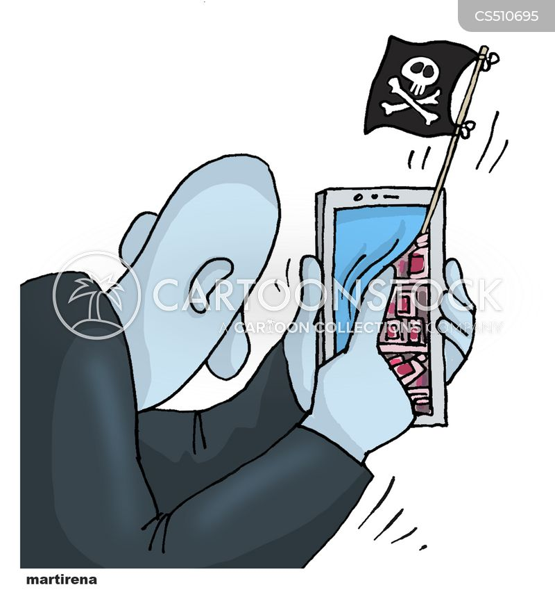 internet piracy cartoon