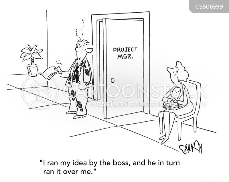 mean boss cartoon