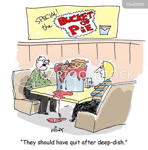 deep dish pizza cartoon