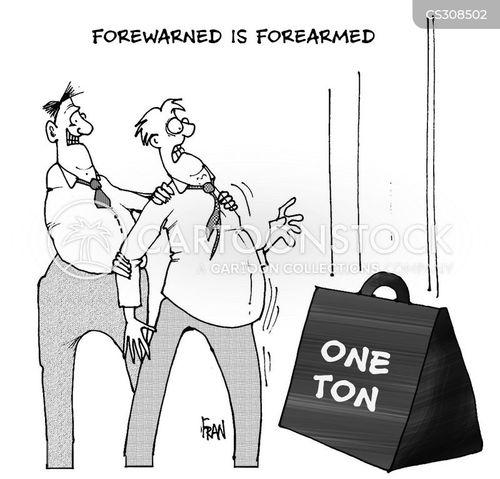 forearmed cartoon