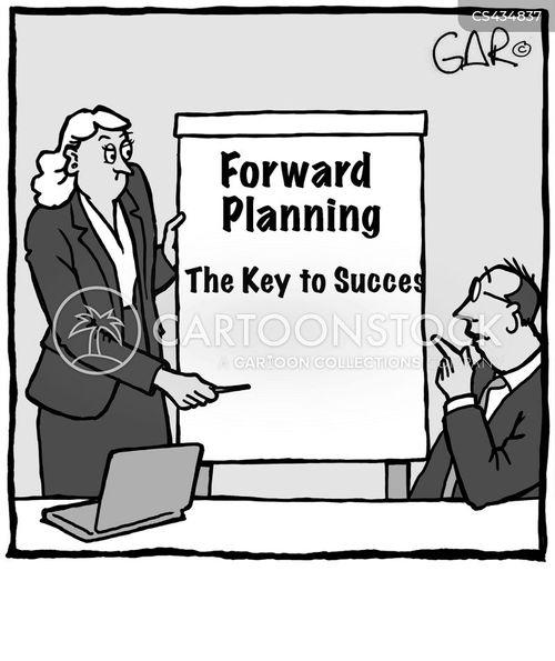 forward thinking cartoon