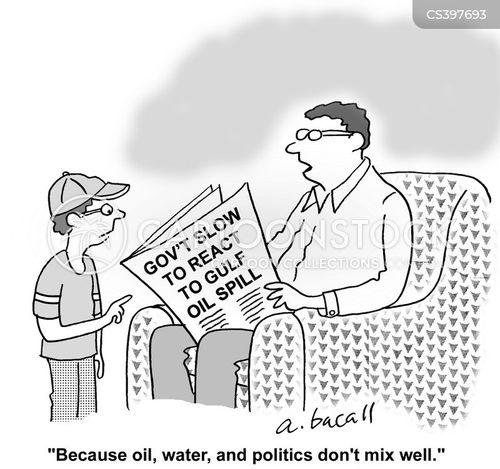 oil slicks cartoon