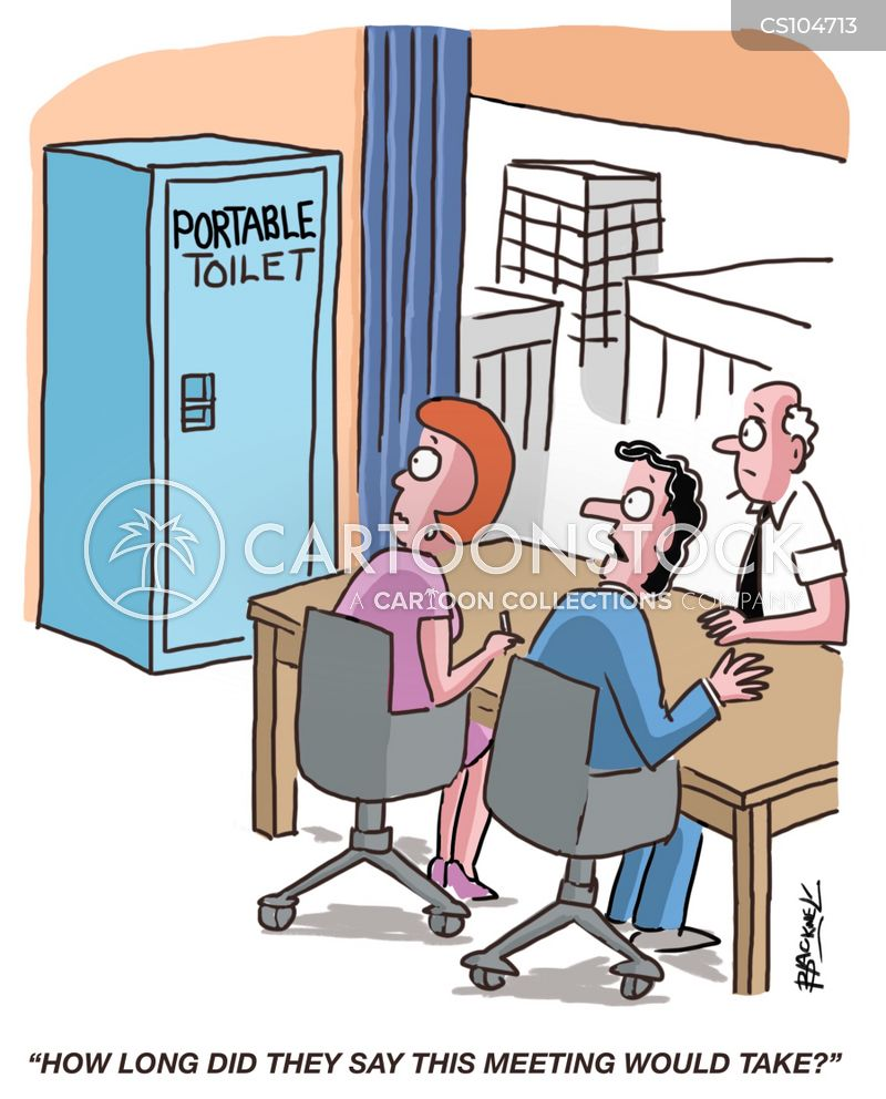 portable loo cartoon