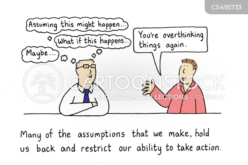 over thinking cartoon