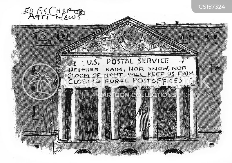 rural post office cartoon
