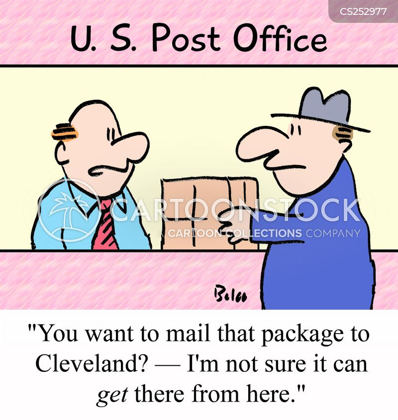 postal office cartoon