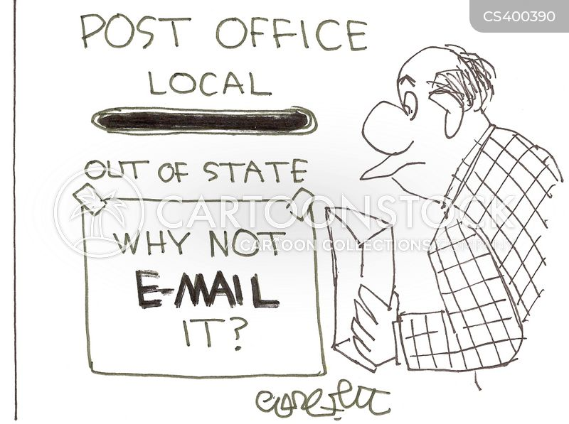 mail workers cartoon