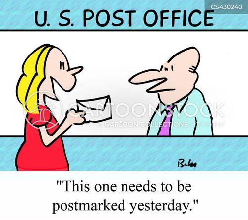 post service cartoon