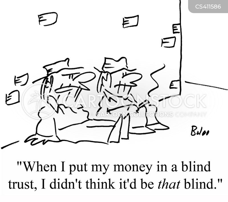 blind trust cartoon
