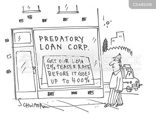 high interest rates cartoon