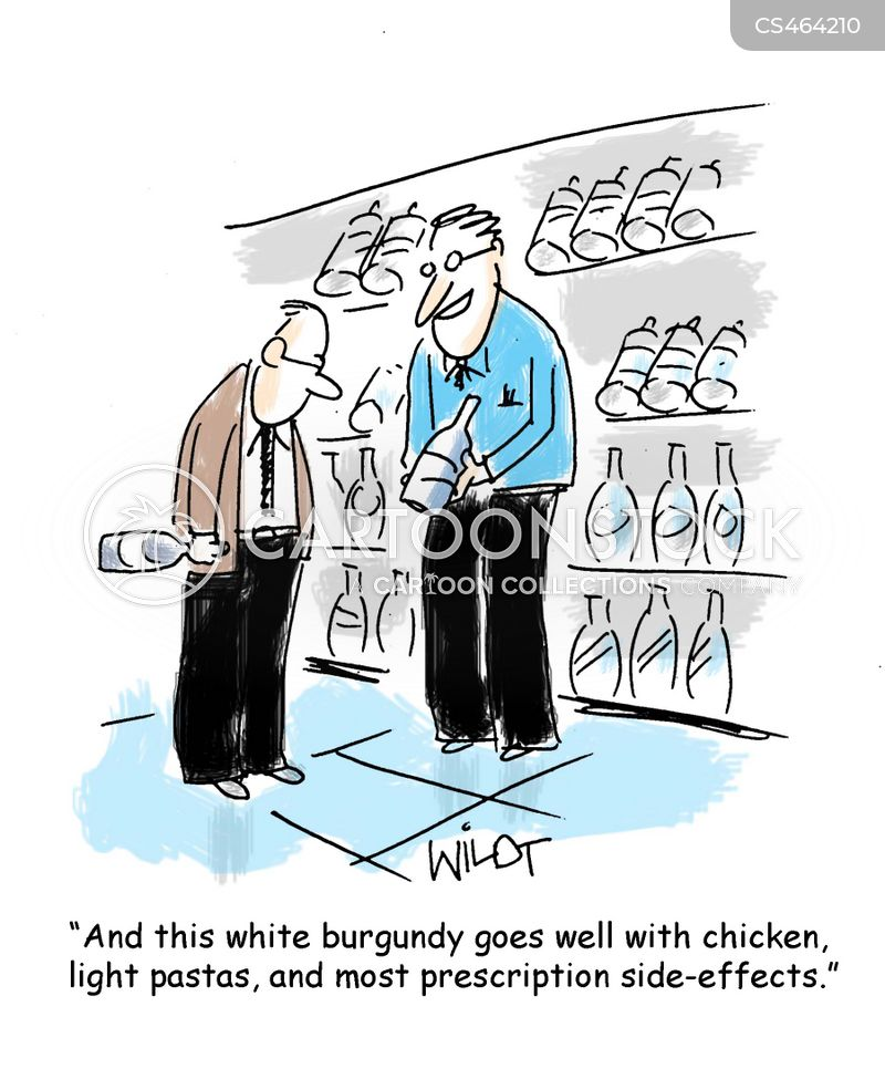 wine recommendation cartoon