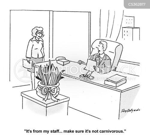 office plants cartoon