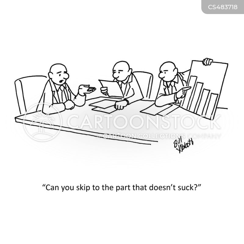 profits graphs cartoon